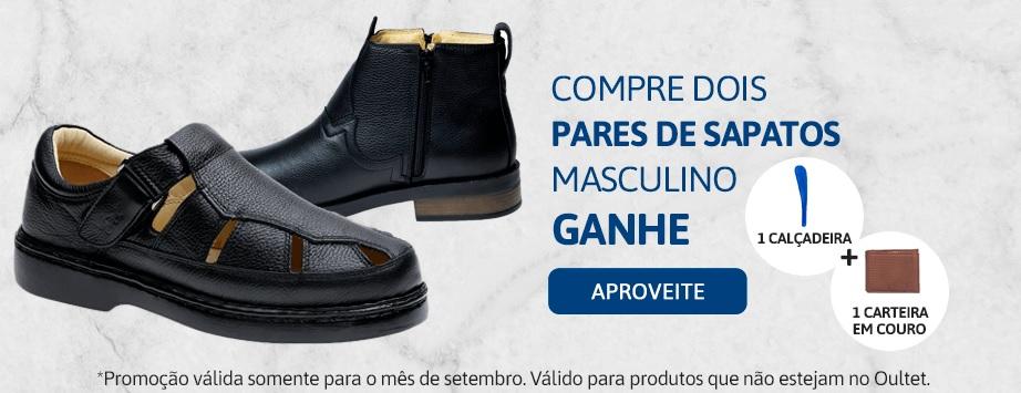 Promoção setembro compre 2 pares de sapato e ganhe brindes - Masculino 2