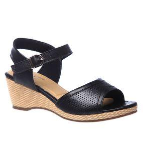 Sandalia-Feminina-Anabela-610-em-Couro-Preto-Doctor-Shoes-Preto-34