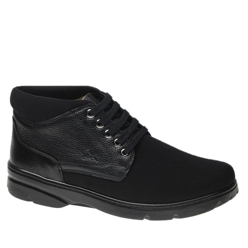 Sapato-Masculino-em-Couro-Floater-Preto-Techprene-Preto-8921-Doctor-Shoes-Preto-37
