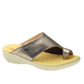 Tamanco-Anatomico-Feminino-em-Couro-Metalic-Techprene-Bege-108-Doctor-Shoes-Bronze-34