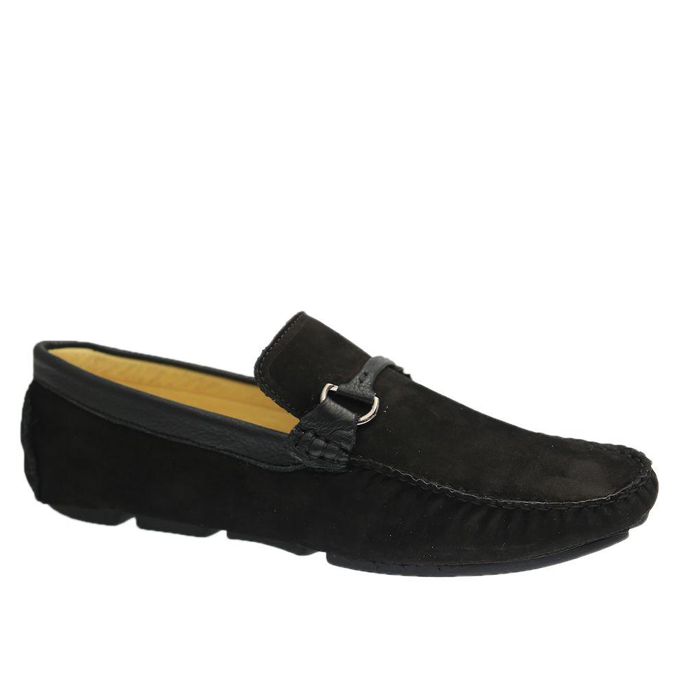 Driver-Masculino-em-Couro-Nobuck-Preto-Floater-Preto-805-Doctor-Shoes-Preto-37