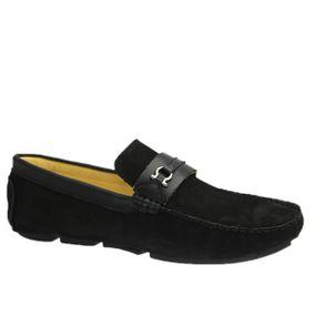 Driver-Masculino-em-Couro-Nobuck-Preto-Floater-Preto-807-Doctor-Shoes-Preto-37