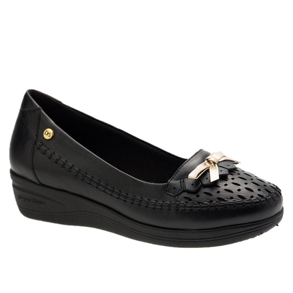 Sapato-Feminino-Anabela-em-Couro-Roma-Preto-7801-Doctor-Shoes-Preto-34