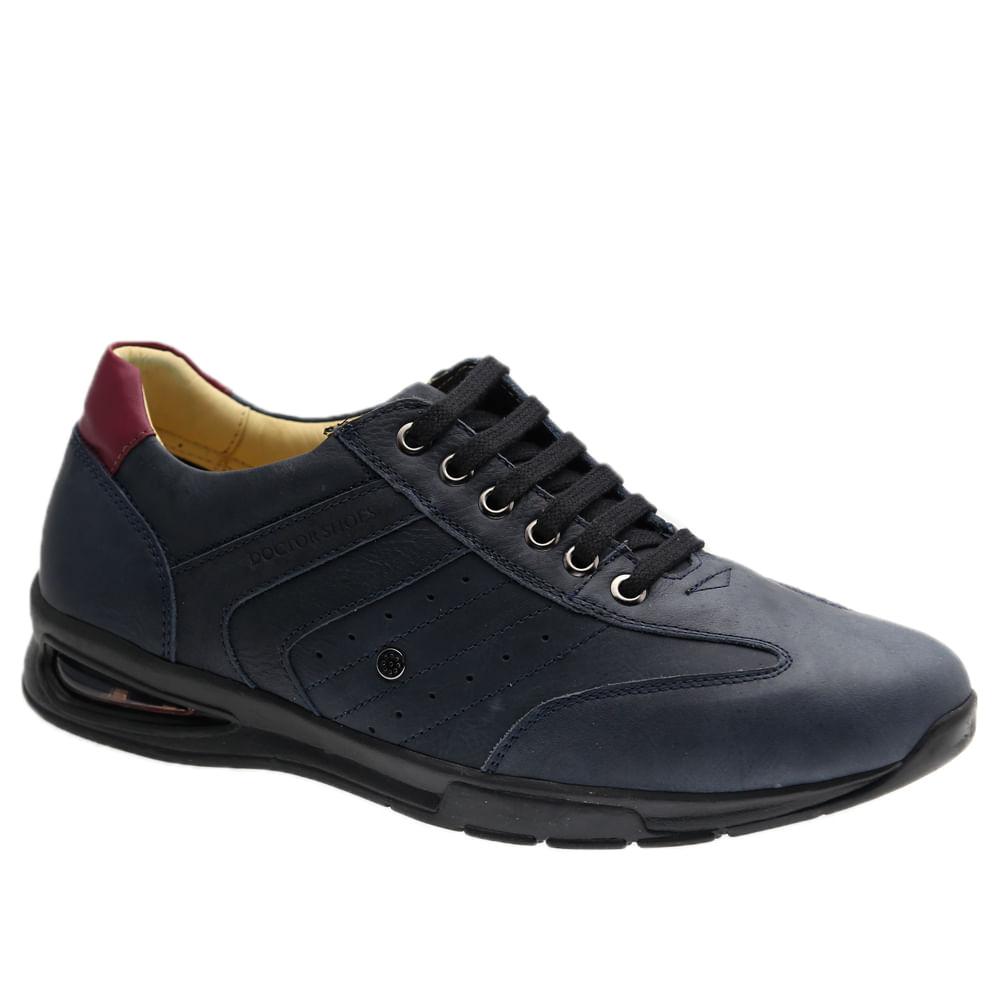 Sapato-Masculino-com-Bolha-de-Ar-System-Anti-Impacto--em-Couro-Graxo-Marinho-Roma-Tinto-2137-Doctor-Shoes-Marinho-37