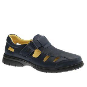 Sandalia-Masculina-em-Couro-Graxo-Marinho-1802-Doctor-Shoes-Marinho-38