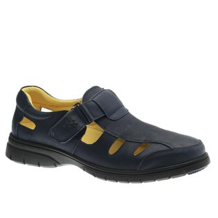 Sandalia-Masculina-em-Couro-Graxo-Marinho-1802-Doctor-Shoes-Marinho-41