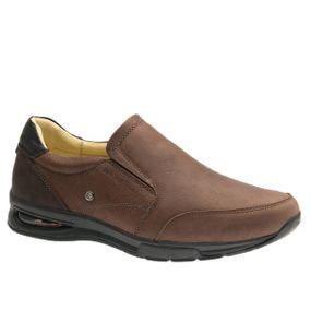 Sapato-Masculino-com-Bolha-de-Ar-System-Anti-Impacto--em-Couro-Graxo-Telha-2139--Doctor-Shoes-Marrom-37