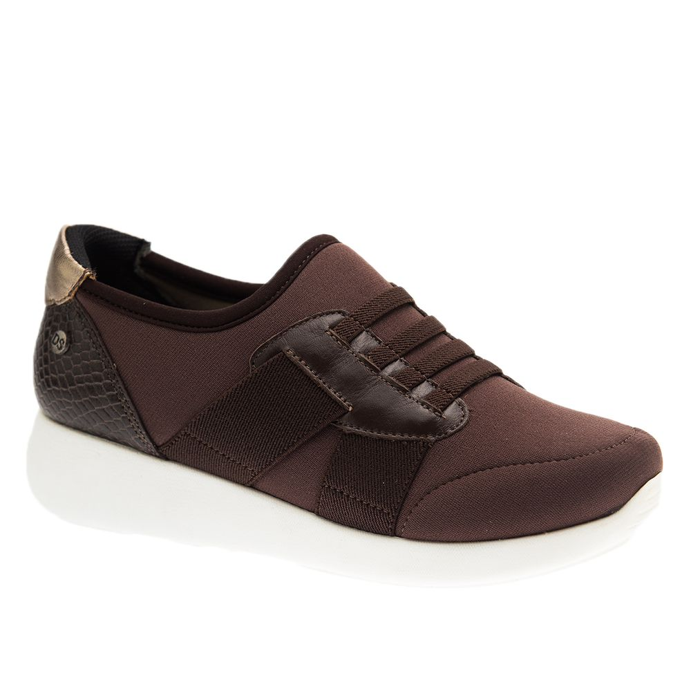 Tenis--Feminino-em-Techprene-Marrom-Roma-Cafe-Serpente-Cafe-Metalic-1400--Doctor-Shoes-Cafe-34
