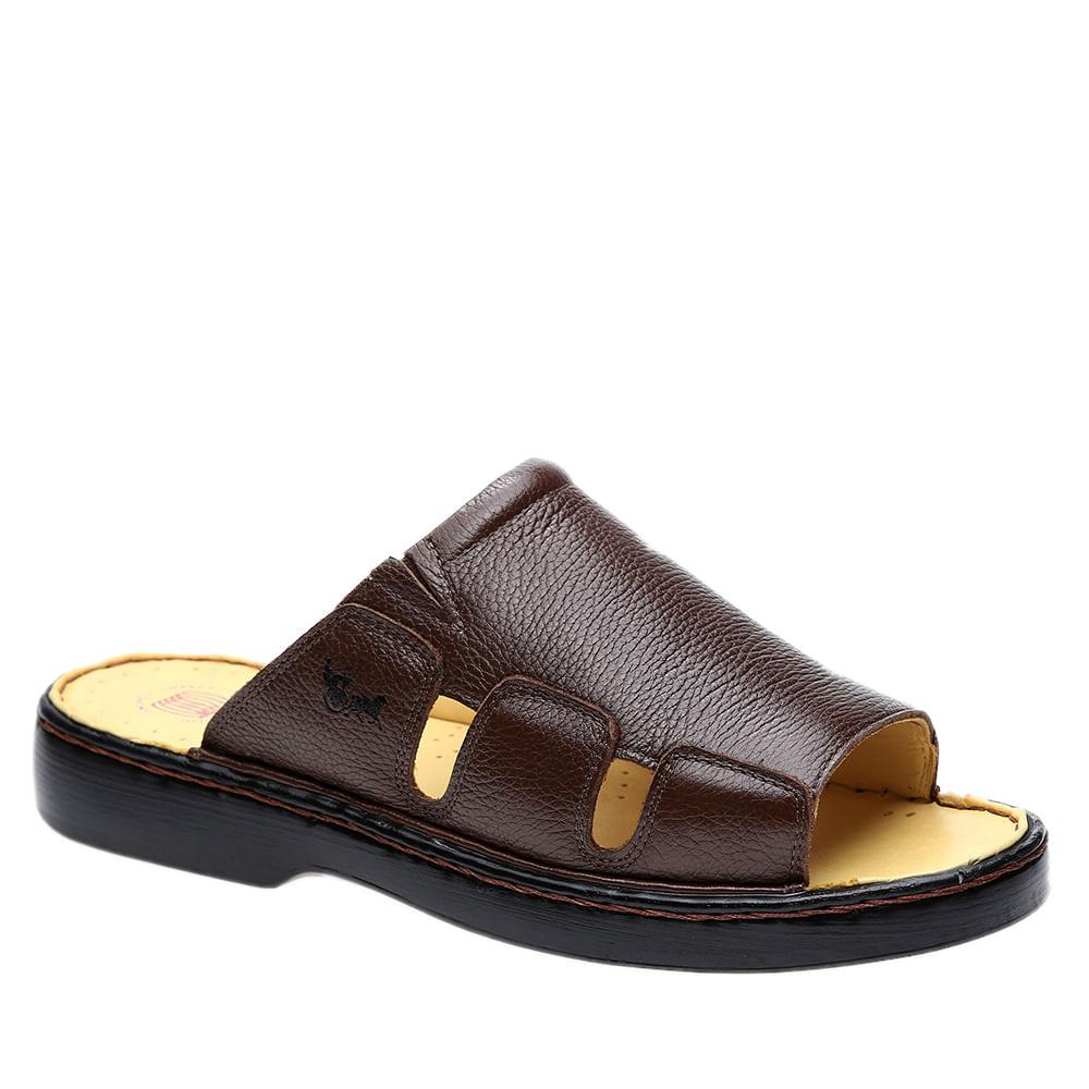 Chinelo-Masculino-322-em-Couro-Floater-Cafe-Doctor-Shoes-37