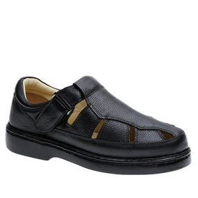 Sandalia-Masculina-320-em-Couro-Floater-Preto-Doctor-Shoes-Preto-38
