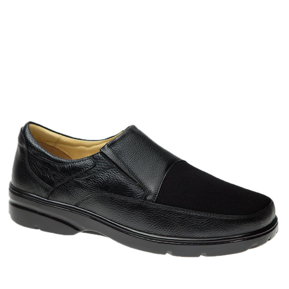 Sapato-Masculino-em-Couro-Floater-Preto-Techprene-Preto-5307-Doctor-Shoes-Preto-37