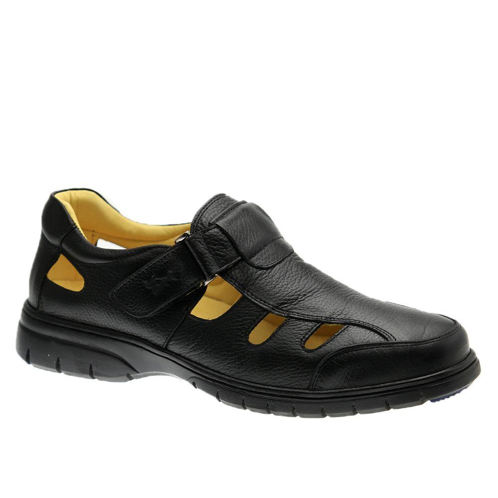 Sandalia-Masculina-em-Couro-Floater-Preto-1802--Doctor-Shoes-Preto-37