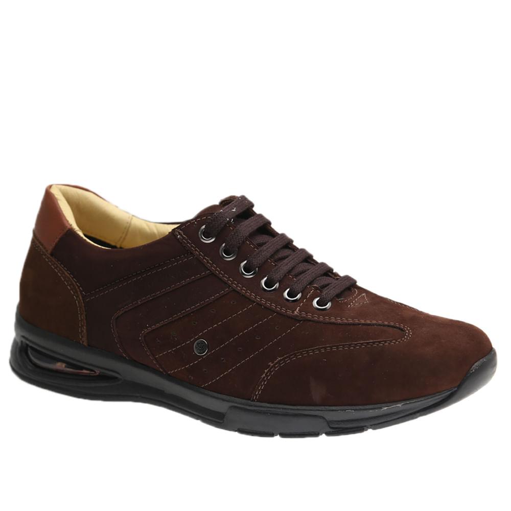 Sapato-Masculino-com-Bolha-de-Ar-System-Anti-Impacto--em-Couro-Nobuck-Cafe-Taupe-2137--Doctor-Shoes-Cafe-37