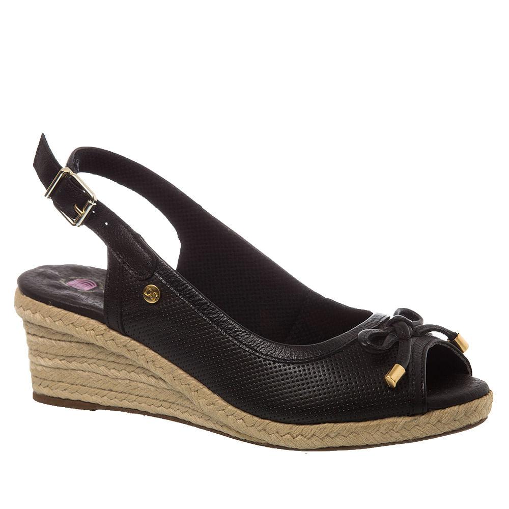 Sandalia-Feminina-Anabela-em-Couro-Preto-660-Doctor-Shoes-Preto-36