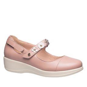 Sapato-Feminino-Diabetico-em-Couro-Nude-com-Flor-Metalic--Neve-7993-Doctor-Shoes-Rose-34
