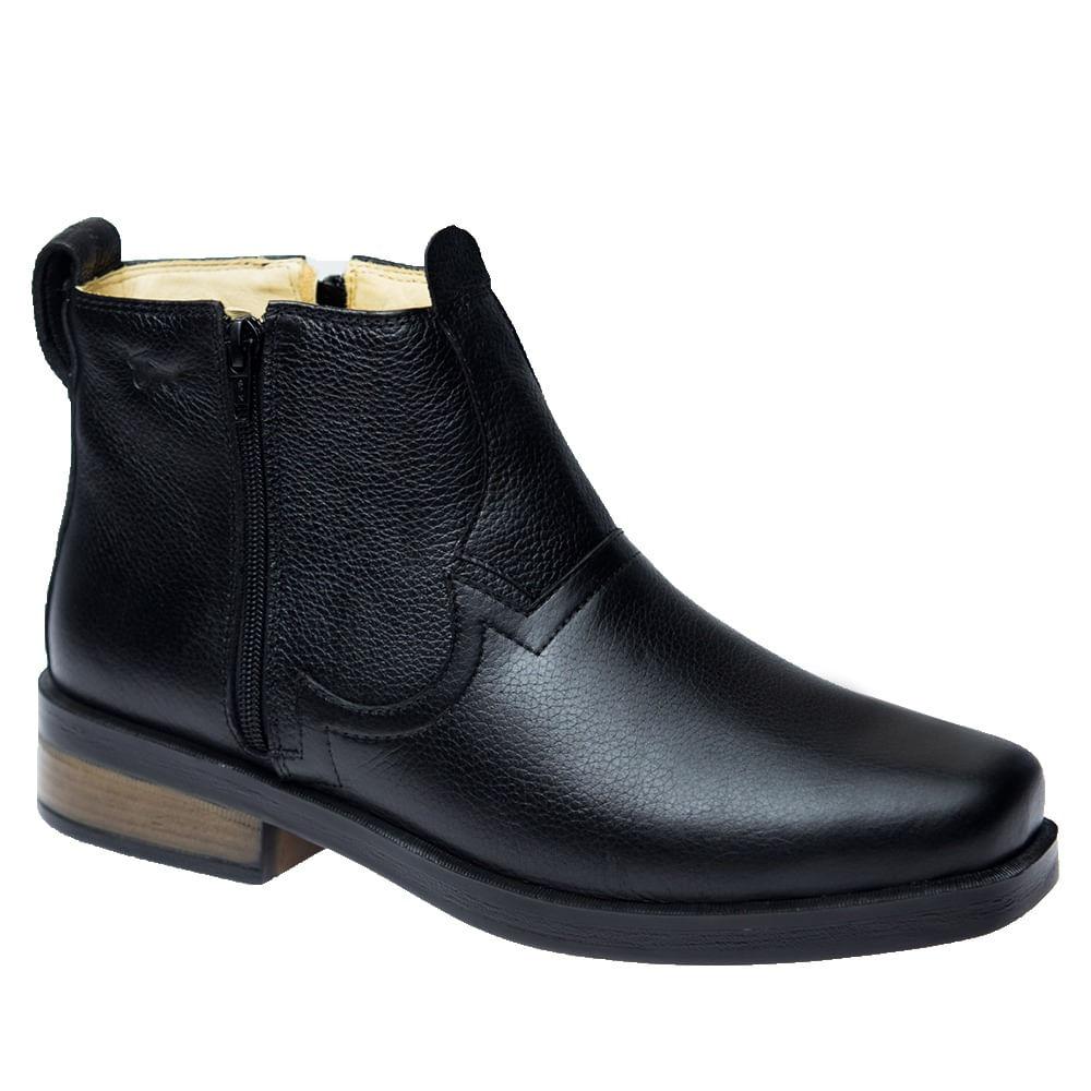 Botina--Masculina--Urbana-Gel-Anatomico-em-Couro-Preto--Floater-8823--Doctor-Shoes-Preto-39