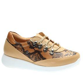 Tenis--Feminino-em-Couro-Porcelana-Cobra-Camel-1401-Doctor-Shoes-Bege-35