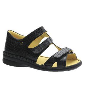 Sandalia-Feminina-em-Couro-Croco-Preto-380--Doctor-Shoes-Preto-35