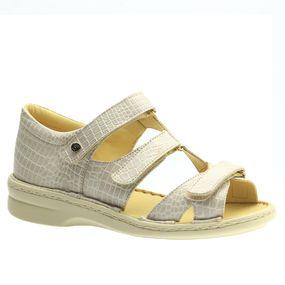 Sandalia-Feminina-em-Couro-Croco-Off-White-380--Doctor-Shoes-Bege-35