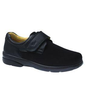 Sapato-Masculino-em-Couro-Floater-Preto-Techprene-Preto-5305--Doctor-Shoes-Preto-38