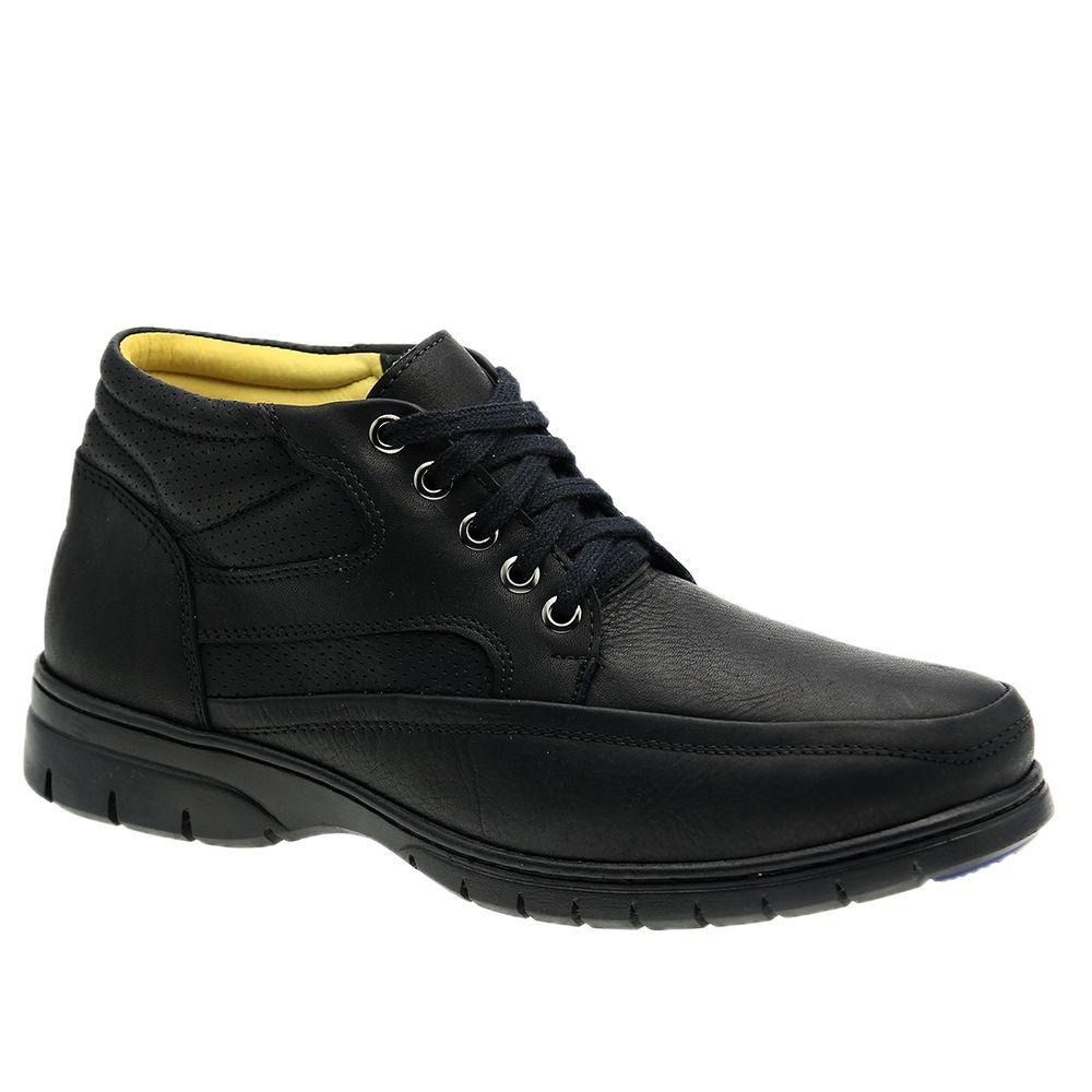 Botinha-Masculina--em-Couro-Graxo-Preto-8850-Doctor-Shoes-Preto-38