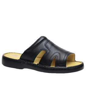 Chinelo-Masculino-em-Couro-Floater-Preto-331--Doctor-Shoes-Preto-37