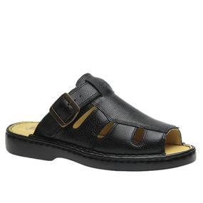 Chinelo-Masculino-em-Couro-Floater-Preto-330--Doctor-Shoes-Preto-37