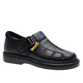Sandalia-Masculina-em-Couro-Floater-Preto-328-Doctor-Shoes-Preto-37