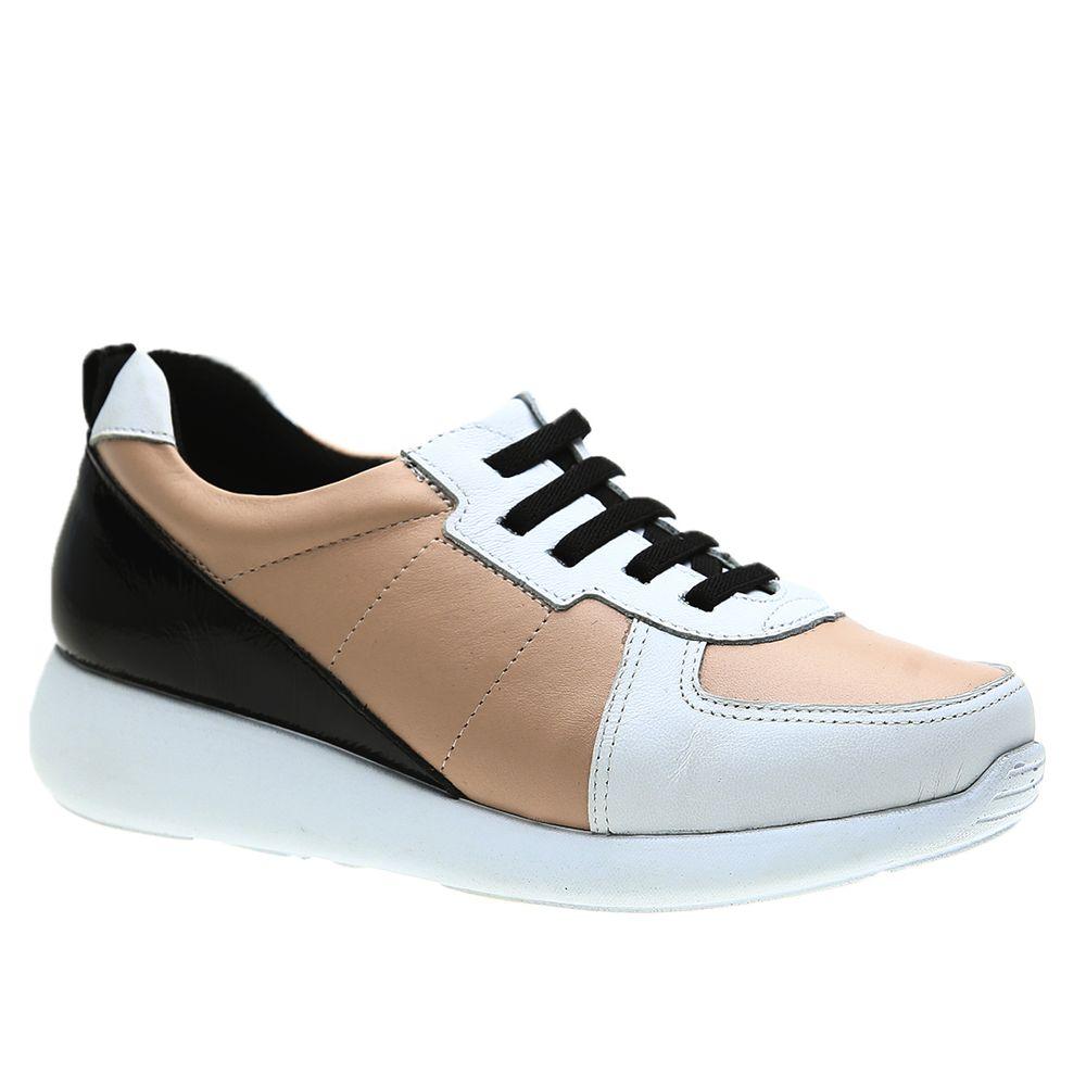 Tenis-Feminino-em-Couro-Roma-Branco-Quartzo-Verniz-Preto--Elastico--1403--Doctor-Shoes-Branco-36