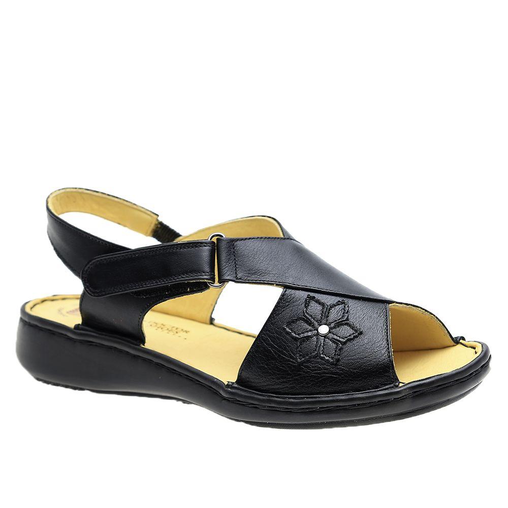 Sandalia-Feminina-em-Couro-Roma-Preto-293B-Doctor-Shoes--Preto-35