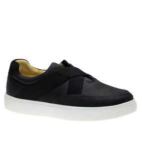 Tenis-Masculino-Slip-On-em-Couro-Graxo-Preto-Nobuck-Preto-2192--Doctor-Shoes-Preto-37