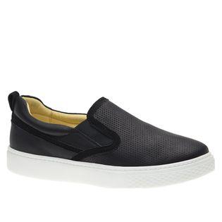 Tenis-Masculino-Slip-On-em-Couro-Graxo-Preto-Nobuck-Preto-2191-Doctor-Shoes-Preto-37