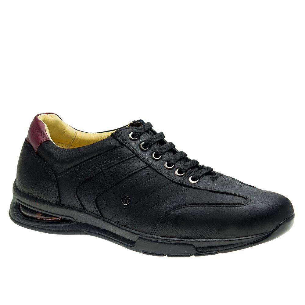 Sapato-Masculino-com-Bolha-de-Ar-System-Anti-Impacto--em-Couro-Graxo-Preto-Roma-Amora-2138-Doctor-Shoes-Preto-38
