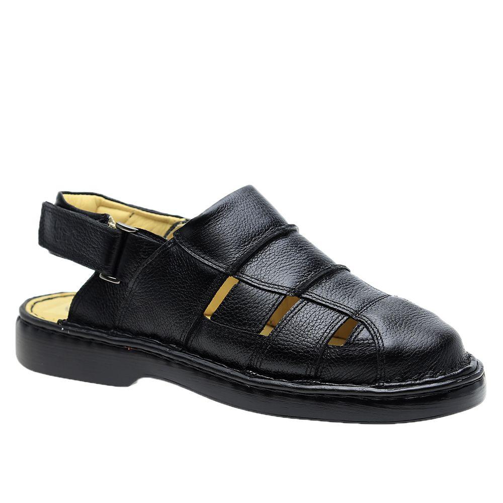 Sandalia-Masculina-em-Couro-Floater-Preto-329-Doctor-Shoes-Preto-37