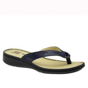 Chinelo-Feminino-em-Couro-Soft-Petroleo-226B-Doctor-Shoes-Azul-Marinho-34
