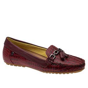 Mocassim-Feminino-em-Couro-Croco-Vermelho-Roma-Amora-1187-Doctor-Shoes-Vermelho-38