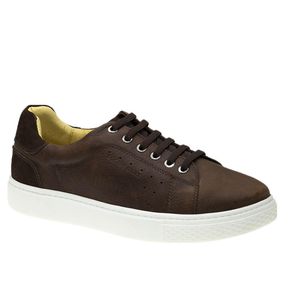 Tenis-Masculino-em-Couro-Graxo-Telha-Nobuck-Cafe-2194--Elastico---Doctor-Shoes-Cafe-37