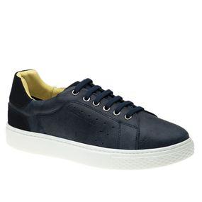 Tenis-Masculino-em-Couro-Graxo-Marinho-Nobuck-Marinho-2194--Elastico---Doctor-Shoes-Azul-Marinho-37
