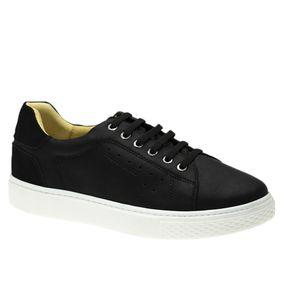 Tenis-Masculino-em-Couro-Graxo-Preto-Nobuck-Preto-2194--Elastico---Doctor-Shoes-Preto-37
