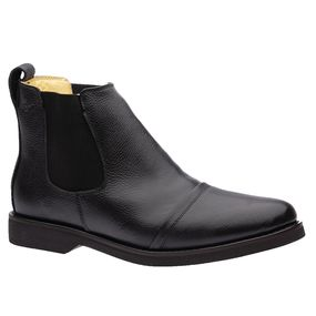 Botina-Masculina-Gel-Anatomica-em-Couro-Floater-Preto-8611-Doctor-Shoes-Preto-38