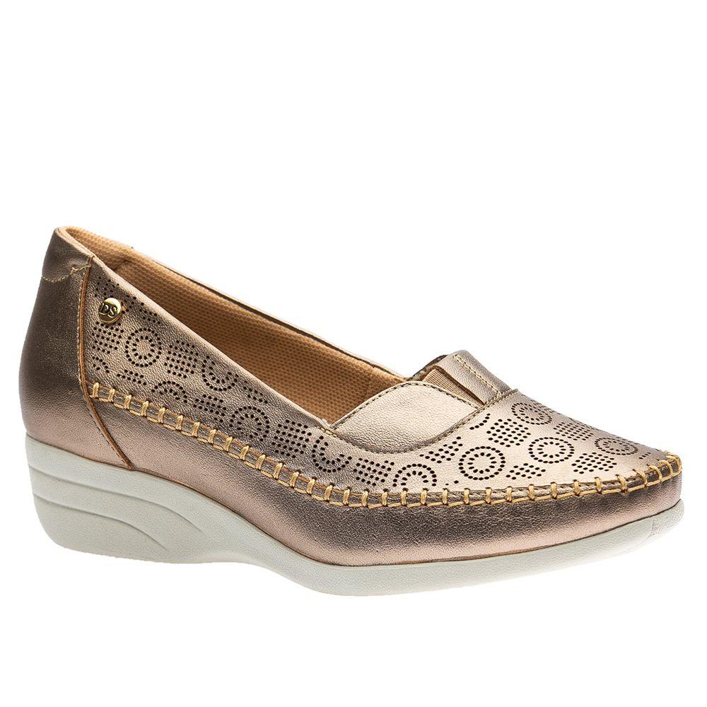 Sapato-Feminino-Anabela-em-Couro-Metalic-3138--Doctor-Shoes-Bronze-38