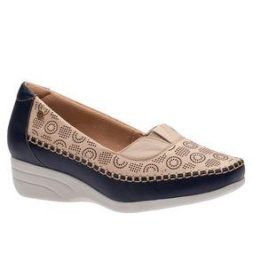 Sapato-Feminino-Anabela-em-Couro-Roma-Marinho-Marfim-3138--Doctor-Shoes-Marinho-34