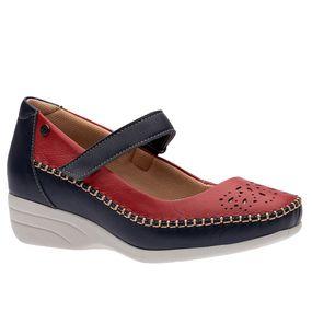 Sapato-Feminino-Anabela-em-Couro-Roma-Marinho-Vermelho-3139--Doctor-Shoes-Marinho-38