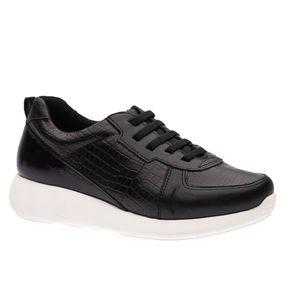 Tenis-Feminino-em-Couro-Roma-Preto-Croco-Preto-Verniz-Preto--Elastico--1403--Doctor-Shoes-Preto-36
