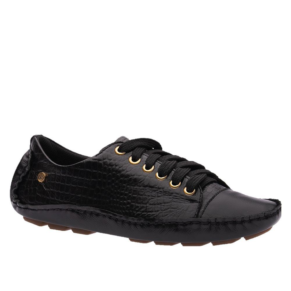 Sapato-Feminino-Driver-em-Couro-Roma-Preto-Croco-Preto-1440-Doctor-Shoes-Preto-36