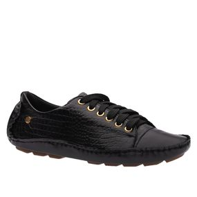 Sapato-Feminino-Driver-em-Couro-Roma-Preto-Croco-Preto-1440-Doctor-Shoes-Preto-38