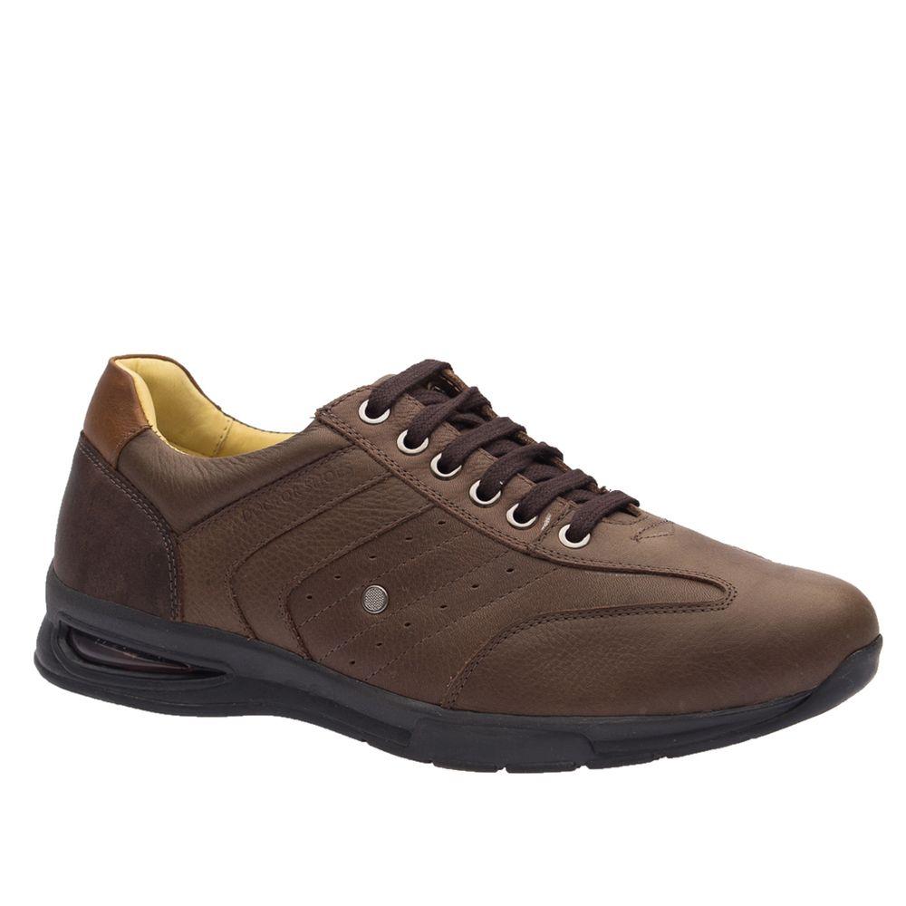 Sapato-Masculino-com-Bolha-de-Ar-System-Anti-Impacto-em-Couro-Graxo-Cafe-Chocolate-Conhaque-2137-Doctor-Shoes-Marrom-38