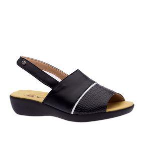 Sandalia-Feminina-em-Couro-Croco-Preto--Branco-Preto-113--Doctor-Shoes-Preto-35
