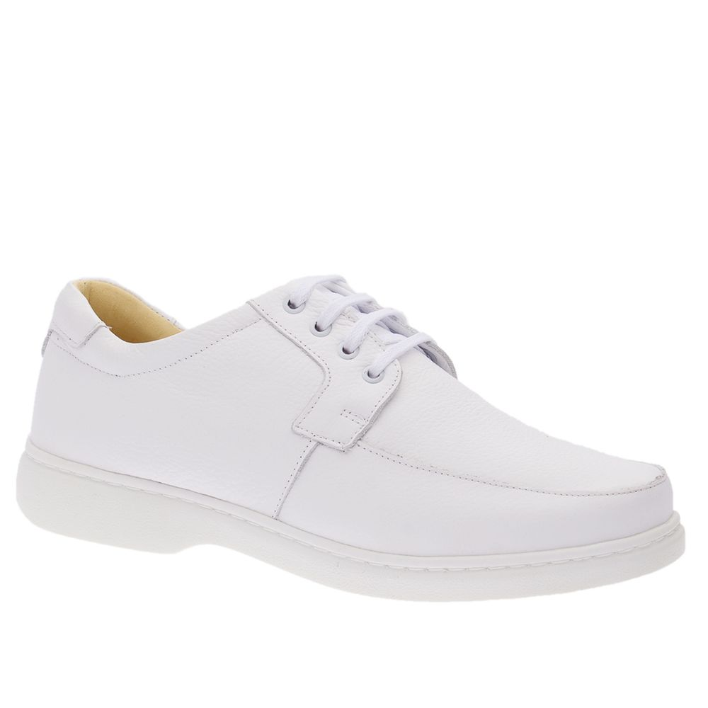 Sapato-Masculino-em-Couro-Floater-Branco-414--Doctor-Shoes-Branco-42