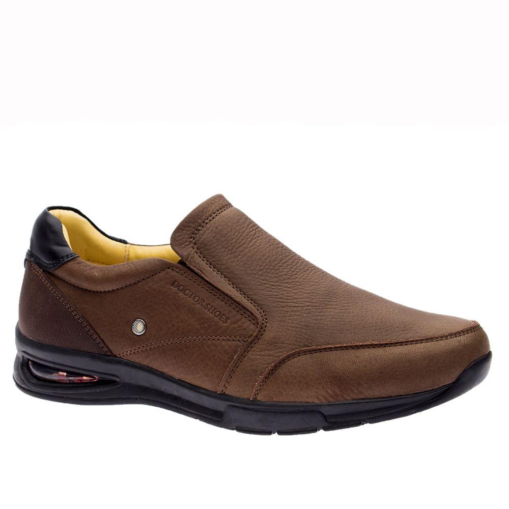Sapato-Masculino-com-Bolha-de-Ar-System-Anti-Impacto--em-Couro-Graxo-Cafe-Chocolate-2139--Doctor-Shoes-Marrom-37